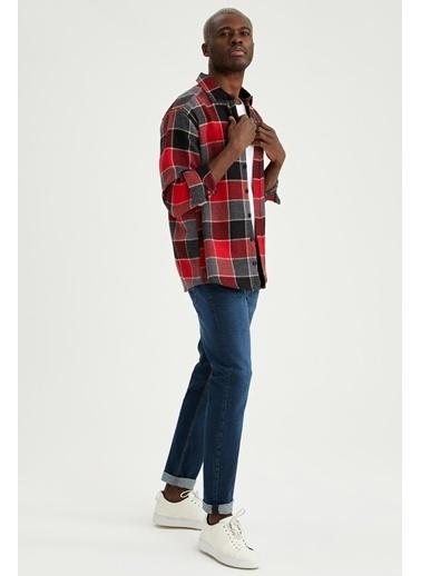 DeFacto Regular Fit Uzun Kollu Gömlek Kırmızı